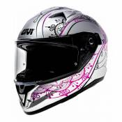 Casque intégral Givi 50.6 Stoccarda Mendhi Lady blanc/rose- S/56