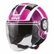 Casque jet Givi 11.1 Air Jet-R Class Lady rose/violet/blanc- XS