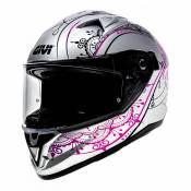 Casque intégral Givi 50.6 Stoccarda Mendhi Lady blanc/rose - S/56