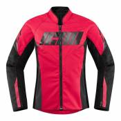 Blouson textile femme Icon Hooligan rouge- 3XL