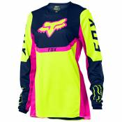Maillot cross Fox YOUTH GIRLS 180 - REVN - YELLOW FLUO