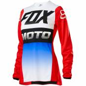 Maillot cross Fox WOMEN 180 - FYCE - BLUE RED 2020
