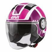 Casque jet Givi 11.1 Air Jet-R Class Lady rose/violet/blanc- M