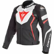 Dainese Avro 4 Leather Perforated 50 Matte Black / Fluo Red